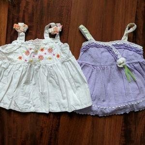 Other - Bundle of 2 short baby girl dresses